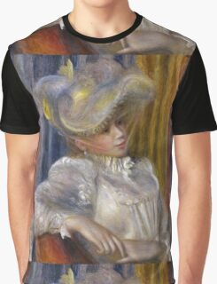 Auguste Renoir - Woman with a Hat 1891 Woman Portrait Graphic T-Shirt