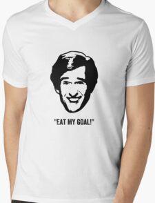 "Alan Partridge ""Eat My Goal!"" Quote Mens V-Neck T-Shirt"