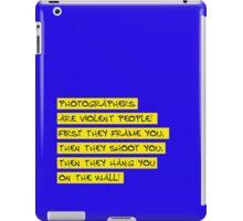 dear photographers! iPad Case/Skin