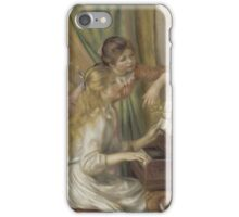 Auguste Renoir - Young Girls at the Piano 1892 iPhone Case/Skin
