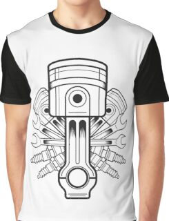 Piston lable Graphic T-Shirt