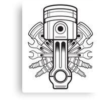 Piston lable Canvas Print