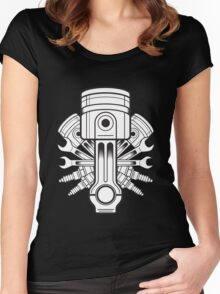 Piston lable Women's Fitted Scoop T-Shirt