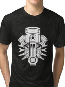Piston lable Tri-blend T-Shirt