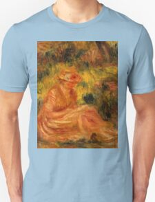 Auguste Renoir - Young Woman in a Landscape  1915 - 1919 Woman Portrait Unisex T-Shirt