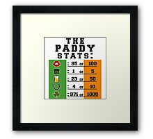 Paddy stats Framed Print