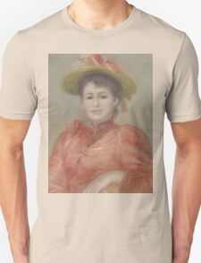 Auguste Renoir - Young Woman in Red Dress  1892 Woman Portrait Unisex T-Shirt
