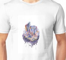 A purple crystal Unisex T-Shirt