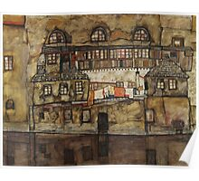 Egon Schiele - House Wall on the River 1915 Poster