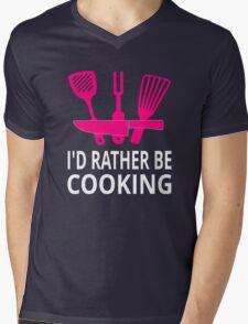 I'd Rather Be Cooking Mens V-Neck T-Shirt
