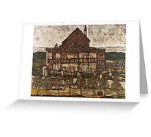 Egon Schiele - House with Shingle Roof Old House II 1915 Greeting Card