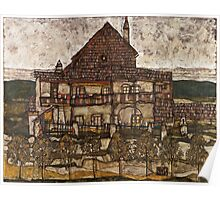 Egon Schiele - House with Shingle Roof Old House II 1915 Poster