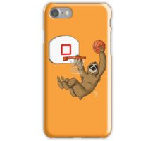 Basketballing sloth iPhone Case/Skin