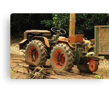 Dirty Tractor on a Farm Canvas Print