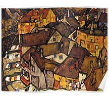 Egon Schiele - Krumau - Crescent of Houses The Small City V Krumau Hauserbogen die Kleine Stadt V 1915 Poster