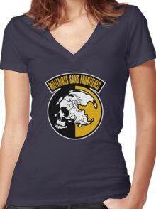 Militaires Sans Frontieres Women's Fitted V-Neck T-Shirt