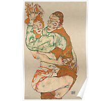 Egon Schiele - Lovemaking 1915 Woman Portrait Poster