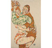 Egon Schiele - Lovemaking 1915 Woman Portrait Photographic Print