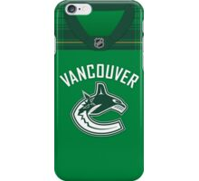 Vancouver Canucks St. Patrick's Day Jersey iPhone Case/Skin