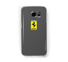 Ferrari Carbon Fiber Logo  Samsung Galaxy Case/Skin