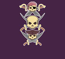 3 Pirate skulls Unisex T-Shirt
