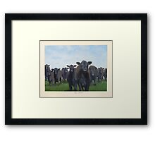 9 black cows: the Court Framed Print