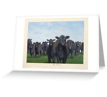9 black cows: the Court Greeting Card