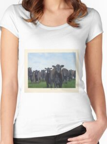 9 black cows: the Court Women's Fitted Scoop T-Shirt