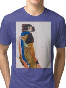 Egon Schiele - Moa 1911 Woman Portrait Tri-blend T-Shirt