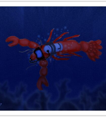 Lobster Diving Sticker
