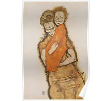 Egon Schiele - Mother and Child 1914 Poster