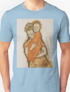 Egon Schiele - Mother and Child 1914 Woman Portrait Unisex T-Shirt