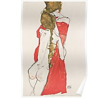 Egon Schiele - Mother and Daughter 1913 Woman Portrait Poster