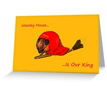 Weasley Mouse Greeting Card