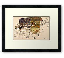 Egon Schiele - Old Houses in Krumau, 1914 Landscape Framed Print