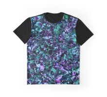 Blue Solar Abstract Graphic T-Shirt