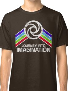 Journey Into Imagination Distressed Logo in Vintage Retro Style Classic T-Shirt