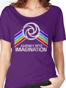 Journey Into Imagination Distressed Logo in Vintage Retro Style Women's Relaxed Fit T-Shirt