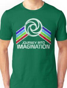 Journey Into Imagination Distressed Logo in Vintage Retro Style Unisex T-Shirt