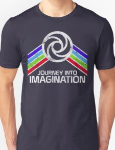 Journey Into Imagination Distressed Logo in Vintage Retro Style Unisex T-Shirt