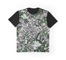 Purple and Green Abstract Graphic T-Shirt