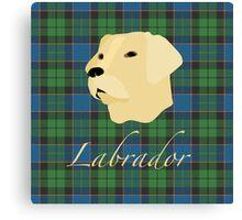 Labrador Tartan scottish scotland Canvas Print