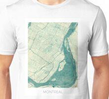 Montreal Map Blue Vintage Unisex T-Shirt
