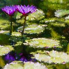 Waterlilies Impressions – Purple Duo Shimmer by Georgia Mizuleva