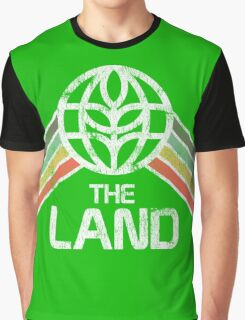 The Land Logo Distressed in Vintage Retro Style Graphic T-Shirt