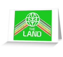 The Land Logo Distressed in Vintage Retro Style Greeting Card