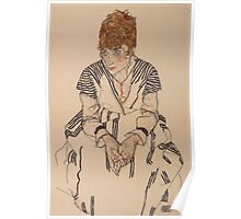 Egon Schiele - Portrait of the Artist's Sister-in-Law, Adele Harms, 1917 Poster