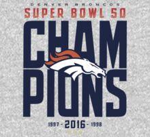 Broncos Super Bowl Champions ONGE One Piece - Short Sleeve