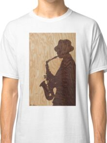 White jazz mood marquetry picture Classic T-Shirt