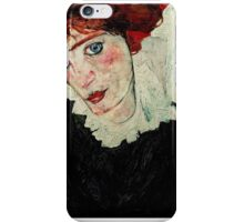 Egon Schiele - Portrait of Wally Neuzil 1912 Woman Portrait iPhone Case/Skin